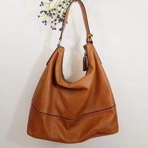 Banana Republic Leather Tote Hobo Bag Purse Brown